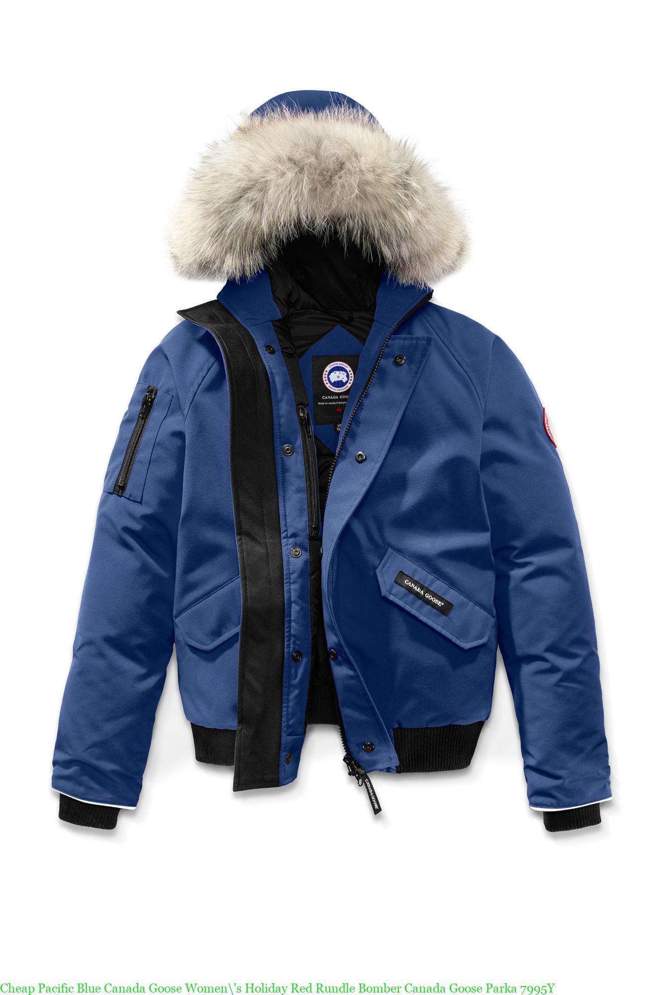 Canada Goose Blue Rundle Bomber Jacket