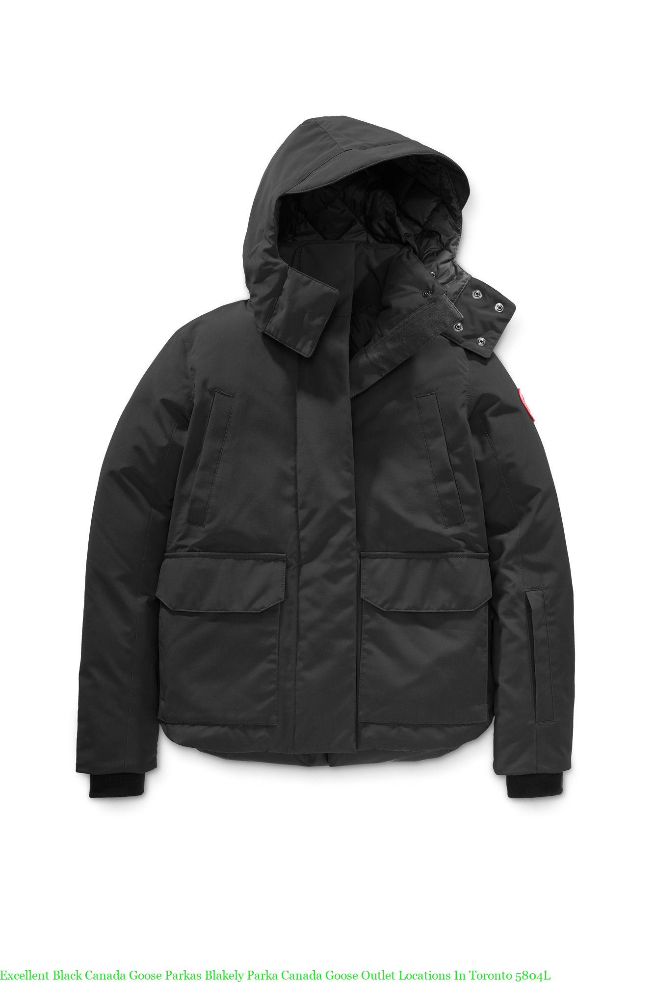 453acf1dc Excellent Black Canada Goose Parkas Blakely Parka Canada Goose Outlet  Locations In Toronto 5804L