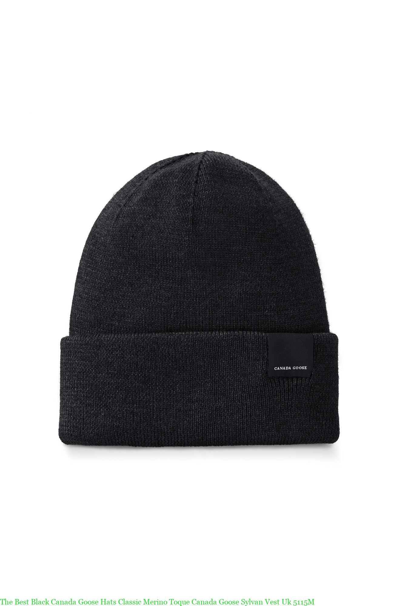 c42354956 The Best Black Canada Goose Hats Classic Merino Toque Canada Goose Sylvan  Vest Uk 5115M